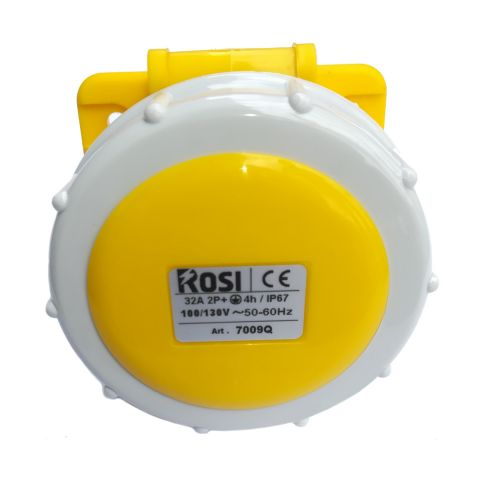 Rosi 7009Q Presa da Incasso Inclinata IP67 32A 3P 110V